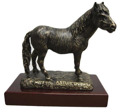 Artesania Asturiana -  Asturcon con peana imitación Bronce - Editorial Picu Urriellu