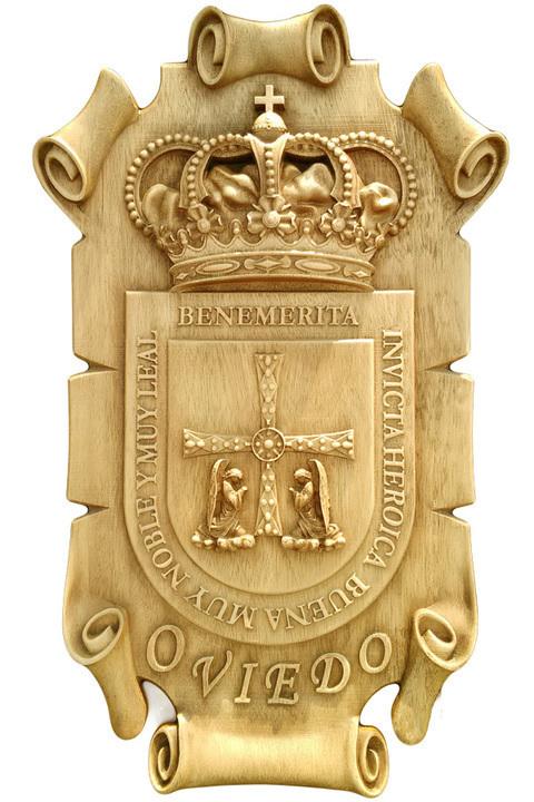 Artesania Asturiana - Escudo Oviedo - Pergamino para colgar  - Editorial Picu Urriellu