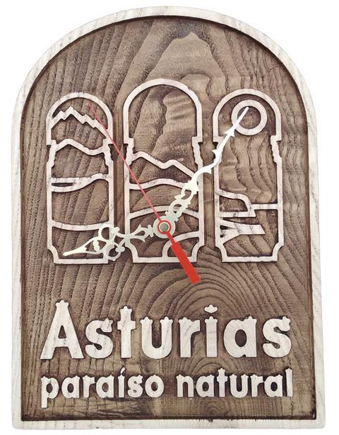 Artesania Asturiana - Reloj Asturias Paraiso Natural - para colgar - Editorial Picu Urriellu