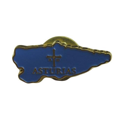 Artesania Asturiana - Pin mapa Asturias - Editorial Picu Urriellu