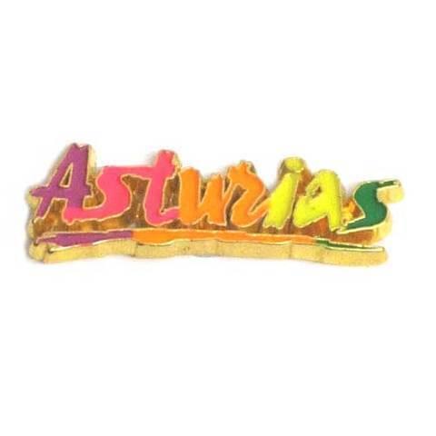 Artesania Asturiana -  Iman metal Letras Asturias color  - Editorial Picu Urriellu
