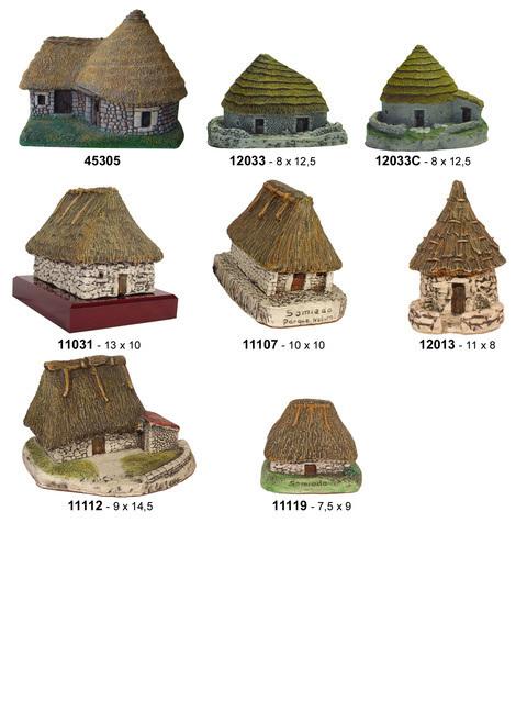 Artesania Asturiana -  Teitos cerámica varios modelos - Editorial Picu Urriellu