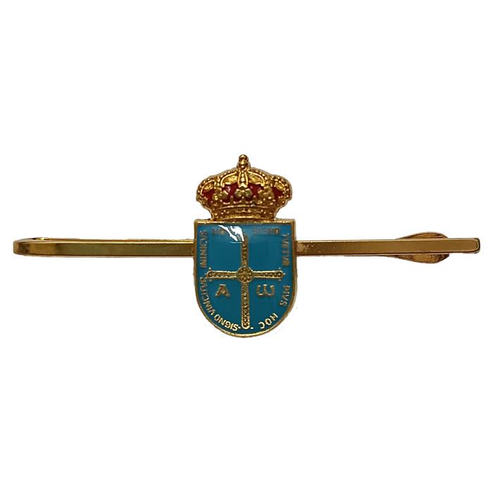 Artesania Asturiana -  Pasadores de corbata escudo de Asturias - Editorial Picu Urriellu