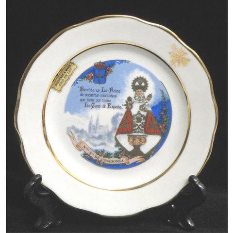 Artesania Asturiana -  Plato porcelana blanca- motivos asturianos  - Editorial Picu Urriellu