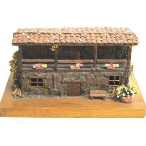 Artesania Asturiana -  Casa piedra base madera -artesanal  - Editorial Picu Urriellu
