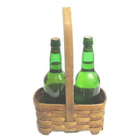 Artesania Asturiana -  Botellero alto - dos botellas  - Editorial Picu Urriellu