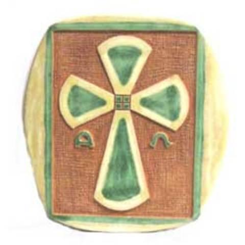 Artesania Asturiana - Ceramica colgar esmaltes - varias cruces - Editorial Picu Urriellu