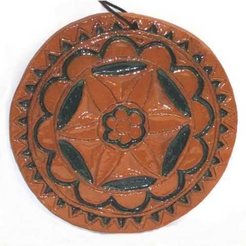 Artesania Asturiana - Disco pequeños ceramica esmaltes - motivo celta  - Editorial Picu Urriellu
