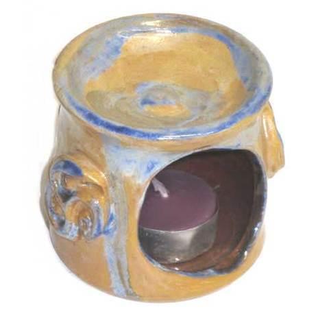 Artesania Asturiana -  Quemador portavelas ceramica - Editorial Picu Urriellu