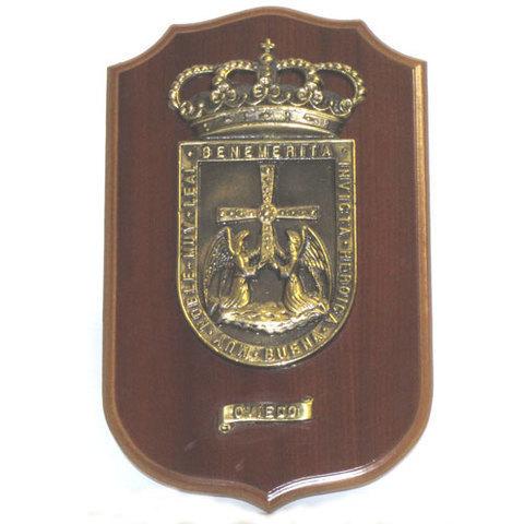 Artesania Asturiana -  Metopa escudo de Oviedo grande - Editorial Picu Urriellu