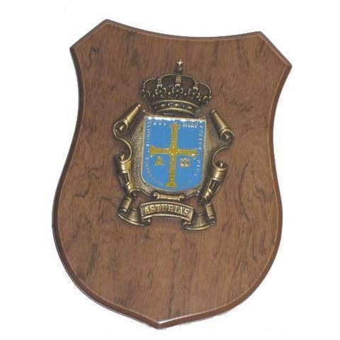 Artesania Asturiana -  Metopa escudo Asturias colgar  - Editorial Picu Urriellu