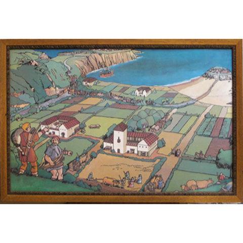 Artesania Asturiana -  Gijon antiguo dibujo - Editorial Picu Urriellu