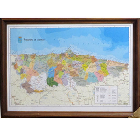 Artesania Asturiana -  Mapa concejos asturianos - en castellano - Editorial Picu Urriellu