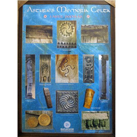 Artesania Asturiana -  Memoria celta - Poster Belenos  - Editorial Picu Urriellu