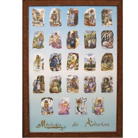 Artesania Asturiana -  Mitologia asturiana poster  - Editorial Picu Urriellu