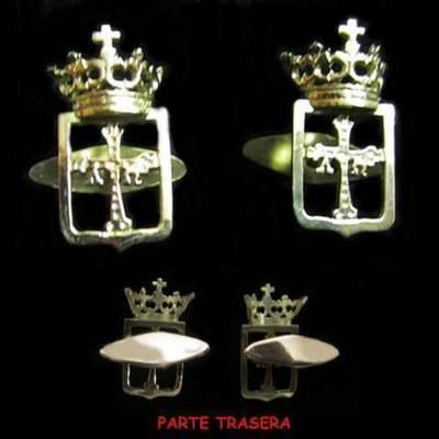 Gemelos escudo Asturias oro