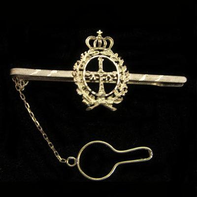 Pasacorbatas escudo Asturias laureado Oro