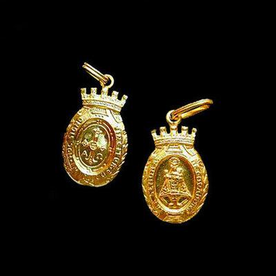 Medalla Virgen de Covadonga almena -peso 2.90g.