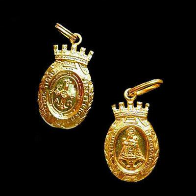 Medalla Virgen de Covadonga almena -peso 3.40g.
