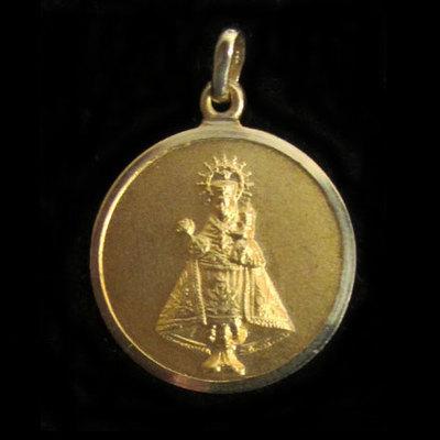 Medalla redonda Virgen Covadonga