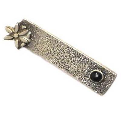 Colgante motivos celtas plata/azabache flor galana