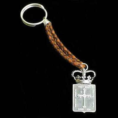Llaveros cuero y plata motivos tradicionales