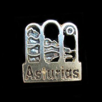 Pins plata  motivos asturianos