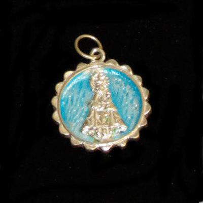 Medalla Virgen Covadonga esmaltada