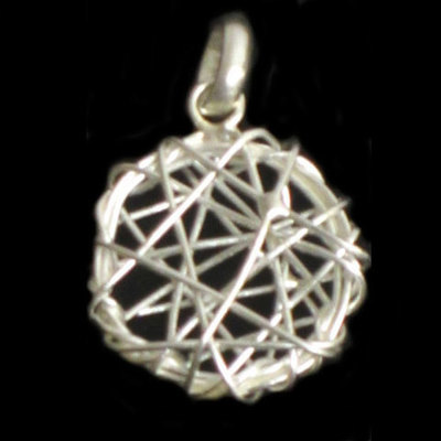 Colgantes plata diseño redondo