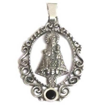 Medalla Virgen Covadon.peq. 1p.azab./plata filigrana