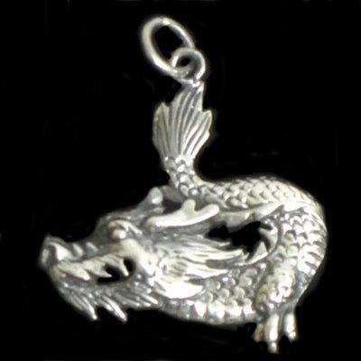 Colgante plata dragón