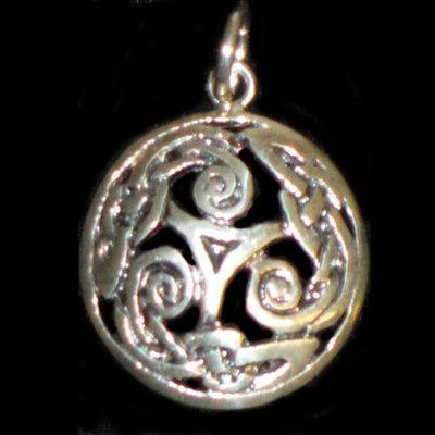 Colgantes plata motivos celtas - tamaño 1