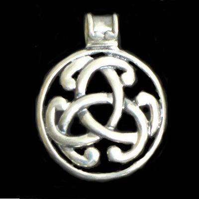 Colgantes medallón plata motivos celtas grandes