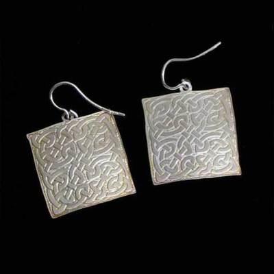 Pendientes colgar plata diseño - varios