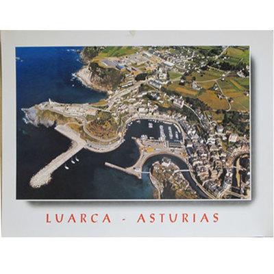 Litografía Luarca desde el aire