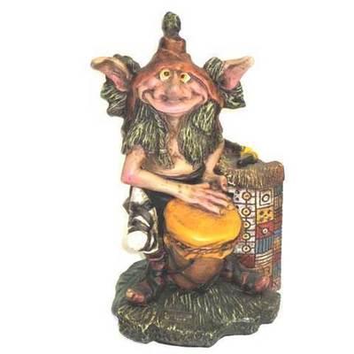 Duende tocando el tambor - sujetalibros