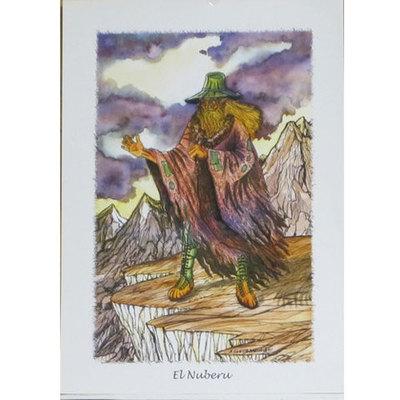 Laminas mitologia asturiana - Urogallo