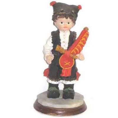 Muñeco asturiano con base