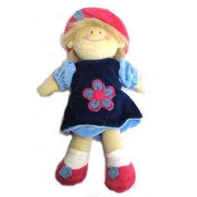 Muñeca flor infantil -vestido azul