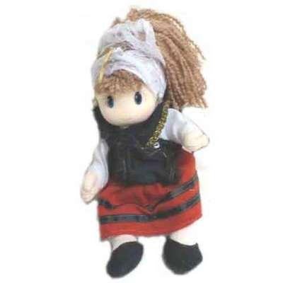 Muñeca asturiana 16 cm peluche
