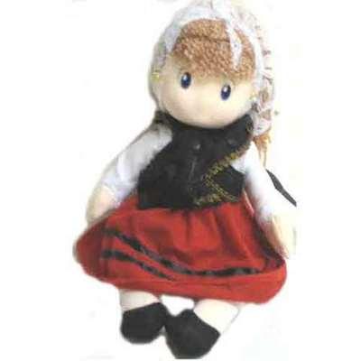 Muñeca asturiana 22 cm. - peluche