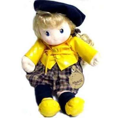 Muñeca boina musical  - vestido amarillo