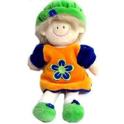 Muñeca flor infantil  - vestido naranja