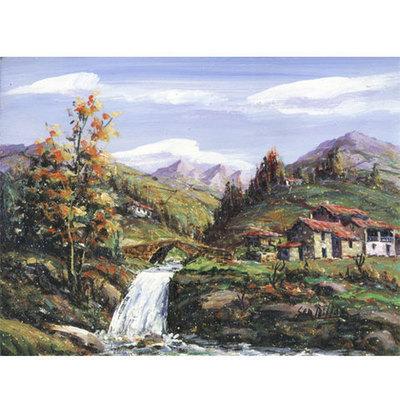 Oleos originales pequeños Millan - paisajes asturianos