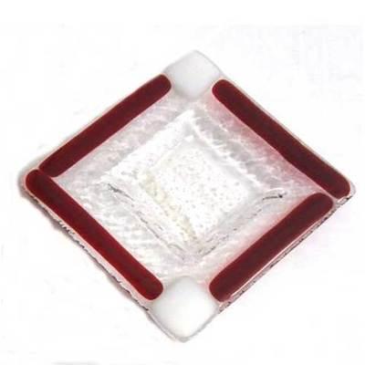 Ceniceros pequeño  - blanco y rojo