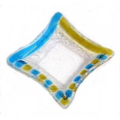 Ceniceros pequeño - azul y amarillo
