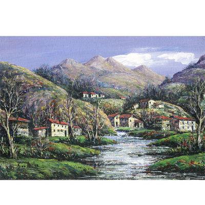 Oleos originales medianos Millan - paisaje asturiano