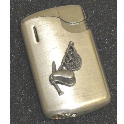 Mechero metal motivos asturianos