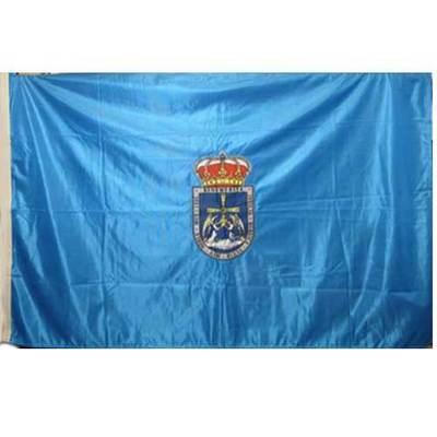 Bandera de Oviedo escudo bordado - oficial