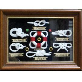 Cuadro nudos marineros con flotador